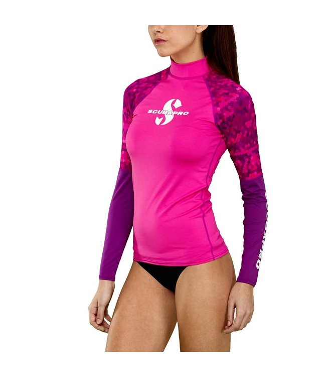 Scubapro Rash Guard dames lang Flamingo