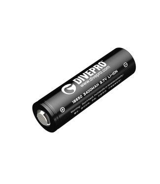 Divepro Divepro batterij 18650 3400mah 15A