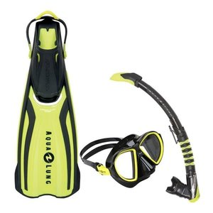 Aqualung Amika Travel snorkelset geel