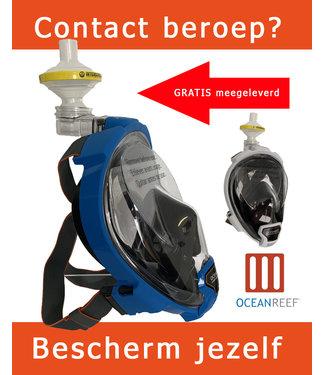 Oceanreef Aria Snorkelmasker QR+ Blauw