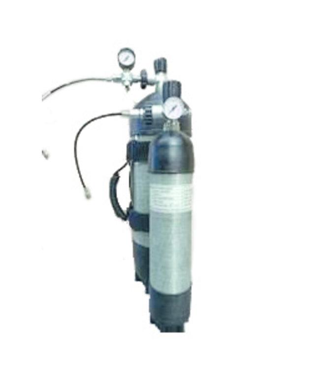 Carbon Persluchtfles 300 bar met vulset