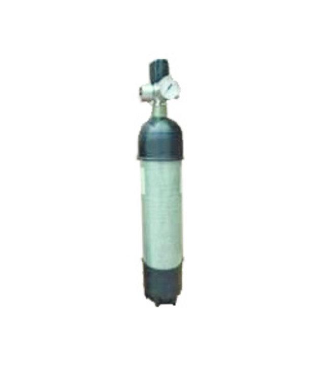 Carbon Persluchtfles 300 bar met manometer