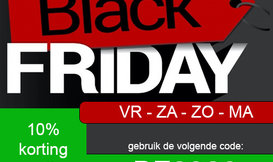Black Friday t/m Cyber Monday KORTING