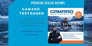 CAMARO Testdagen 8-9 mei en 5-6 juni