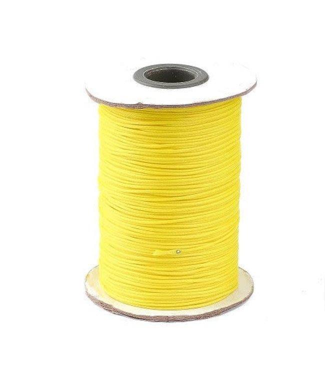 Polyester koord 2,2mm geel per meter