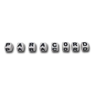 123Paracord Paracord alfabet letter beads Wit