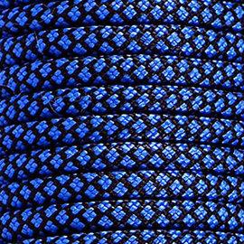 123Paracord Paracord 100 type I Blauw / Zwart Diamond