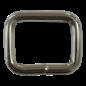 123Paracord Vierkante ring zwaar 20X16mm gelast