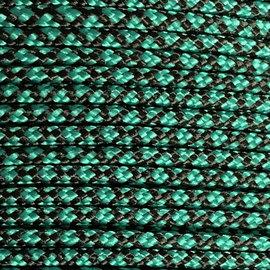 123Paracord Paracord 275 2MM Groen/zwart Diamond