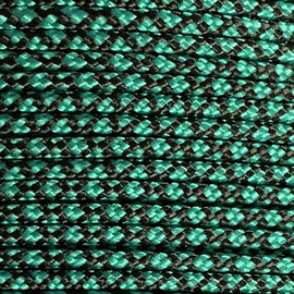 123Paracord Paracord 275 2MM Sea Groen/zwart Diamond