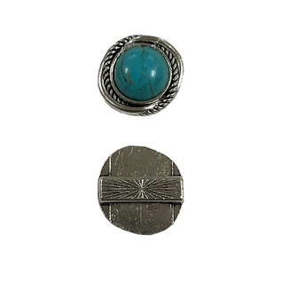 123Paracord Schuifkraal Turquoise rond