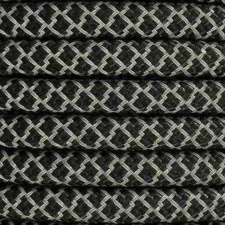 123Paracord 10MM PPM Touw Ultra reflective & Zwart Diamond