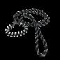 123Paracord Snelle uitlater pakket (zwart/zilvergrijs diamond/wit)