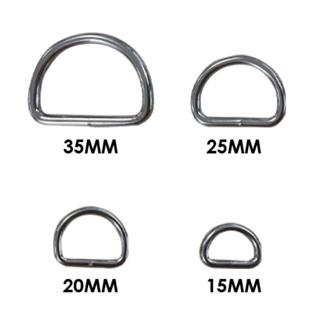123Paracord Paracord D-ring zwaar 35MM X 4MM gelast