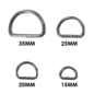 123Paracord Paracord D-ring zwaar 20MM X 2,5MM gelast
