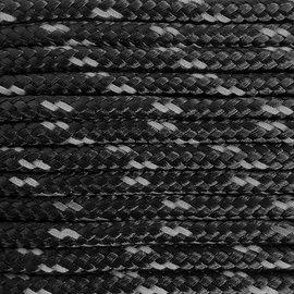 123Paracord Paracord 275 2MM Zwart reflecterend