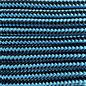 123Paracord Paracord 425 type II Donker Cyan/Zwart Stripes