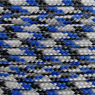 123Paracord Paracord 100 type I Blauw/wit