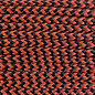 123Paracord Paracord 275 2MM Oranje Zwart Shockwave
