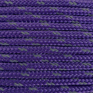 123Paracord Paracord 100 type I Deep Paars Reflective