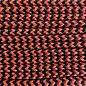 123Paracord Paracord 100 type I Oranje Zwart Shockwave