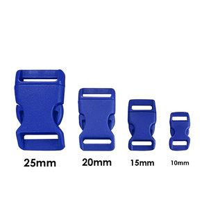 123Paracord Kunststof buckle steeksluiting 15MM Blauw