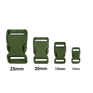 123Paracord Kunststof buckle steeksluiting 10MM Groen
