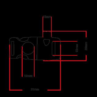 123Paracord Survival buckle steeksluiting 11MM met vuursteen en fluitje