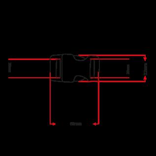 """Alu-Max Alu-Max 25MM (1"""") buckle Antiek Brons"""