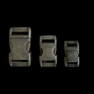 """123Paracord Alu-Max 15MM (5/8"""") buckle Antiek Brons"""