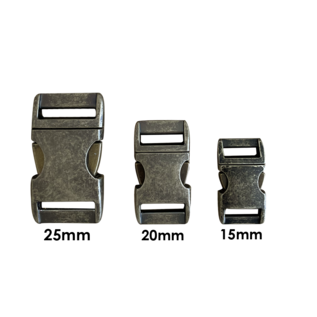 """Alu-Max Alu-Max 20MM (3/4"""") buckle Antiek Brons"""
