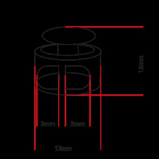 123Paracord Koordstopper rond zwart klein