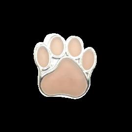 123Paracord Kraal hondenpoot licht roze