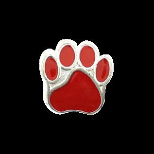123Paracord Kraal hondenpoot Rood
