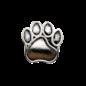 123Paracord Paracord kraal hondenpoot Zilver