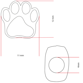 123Paracord Paracord kraal hondenpoot Brons