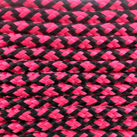 123Paracord Paracord 100 type I Neon Roze Diamond