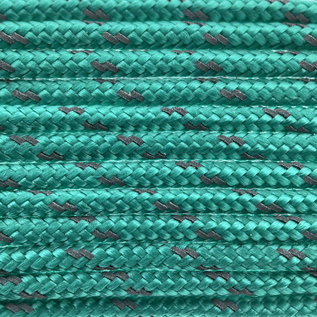 123Paracord Paracord 100 type I Sea Groen Reflective