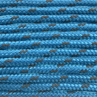 123Paracord Paracord 100 type I Donker Cyan Reflective