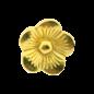 123Paracord Schuifkraal bloem Goud