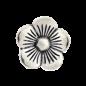 123Paracord Schuifkraal bloem Zilver