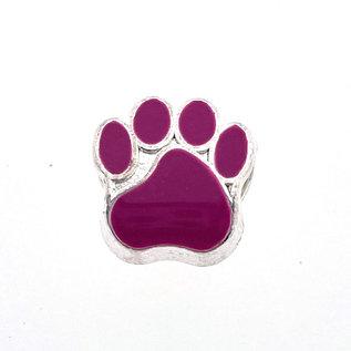 123Paracord Paracord kraal hondenpoot Plum