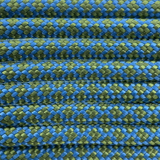 123Paracord Paracord 550 type III Donker Cyan / Forest Groen Diamond