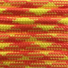 123Paracord Paracord 550 type III Lumberjack Oranje / Geel Neon