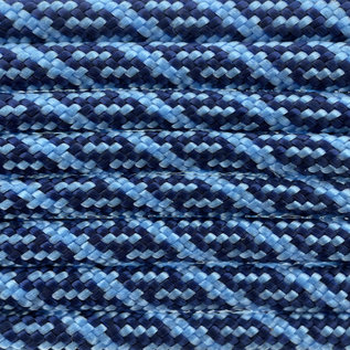 123Paracord Paracord 550 type III Midnight Blauw / Baby Blauw Helix DNA