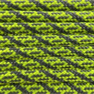 123Paracord Paracord 550 type III Neon Geel / charocal Grijs Helix DNA