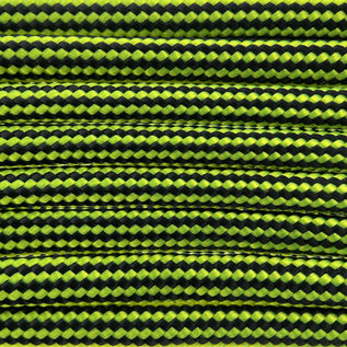 123Paracord Paracord 550 type III Neon Geel / Zwart Stripes