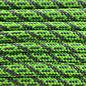 123Paracord Paracord 550 type III Neon Groen / Charcoal Grijs Helix DNA