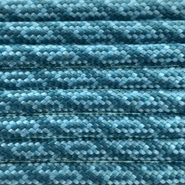 123Paracord Paracord 550 type III Neon Turquoise / Teal Helix DNA