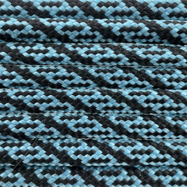 123Paracord Paracord 550 type III Neon Turquoise / Zwart Helix DNA